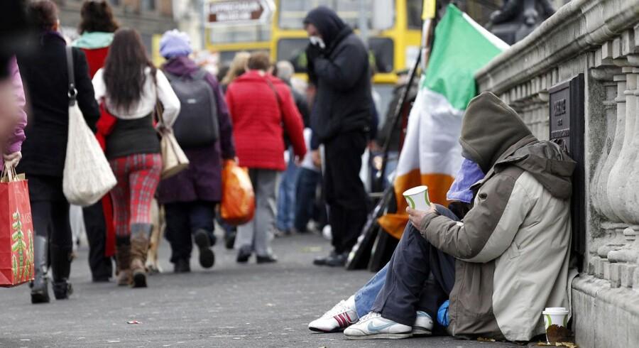 Finanskrisen har givet den irske økonomi en kold tyrker.