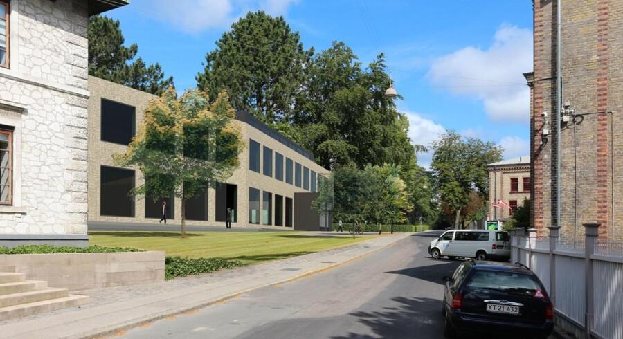 Sådan kommer IT-firmaet Edlunds nye kontorer til at se ud - midt mellem bevarede bygninger i Carlsbergbyen.