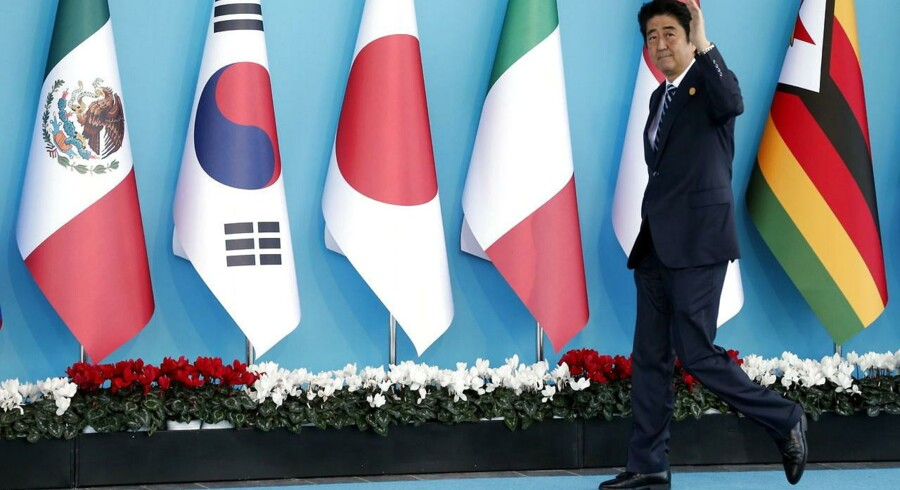 Japans premierminister Shinzo Abe.