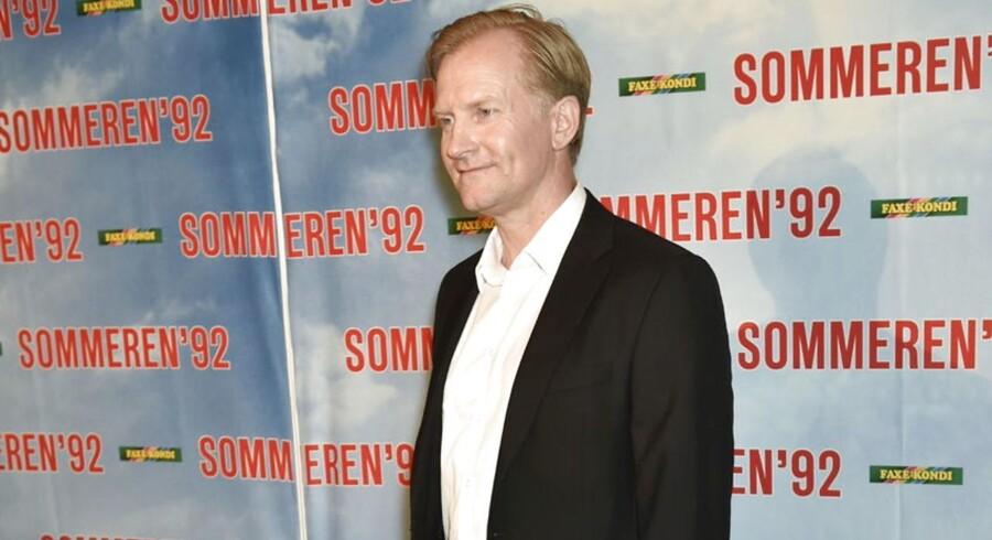 """Ulrich Thomsen til gallapremiere på filmen """"Sommeren 92"""" i Imperial lørdag aften d. 22. august 2015."""