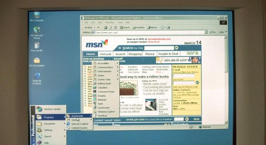 NYE COMPUTERE OG LINDBERG. (Foto: KASPAR WENSTRUP/SCANPIX NORDFOTO 2000)