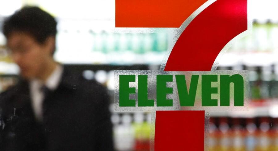 I dag er der 42.900 butikker i verden, der bærer navnet 7-Eleven. Her ses en i den japanske hovedstad, Tokyo.