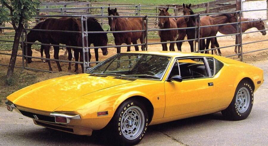 De Tomaso Pantera, lanceret i 1971. Designet af Ghia, og i forhold til Mangusta har de taget udgangspunkt i Giugiarios design, men været mere kompromisløse med en skarpere kileform, og så har den fået klaplygter.