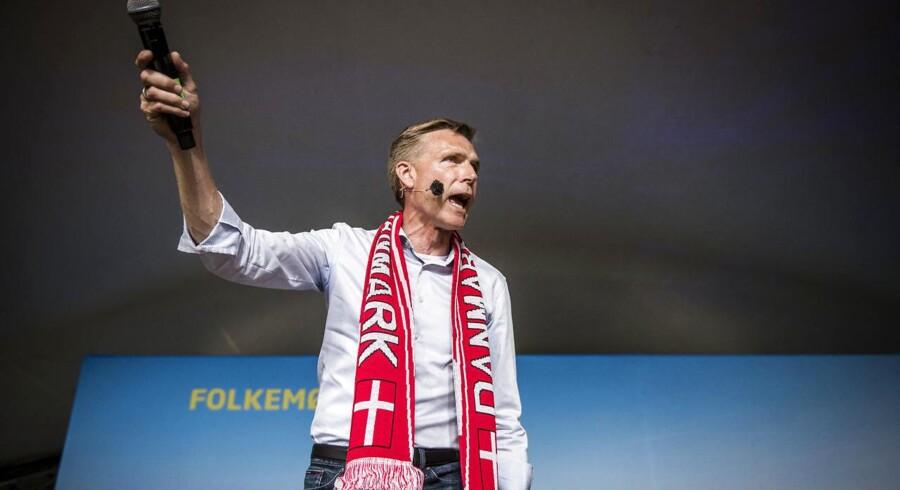 Dansk Forkepartis formand Kristian Thulesen Dahl holder partiledertale på hovedscenen i Allinge på Bornholm lørdag d. 16 juni 2018.. (Foto: Asger Ladefoged/Ritzau Scanpix)