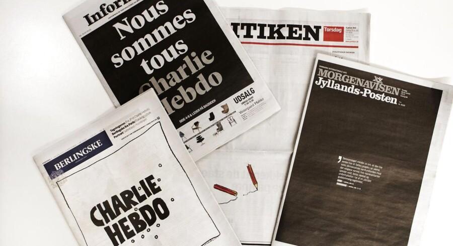 De fire morgenaviser dagen efter terrorangrebet i Frankrig.