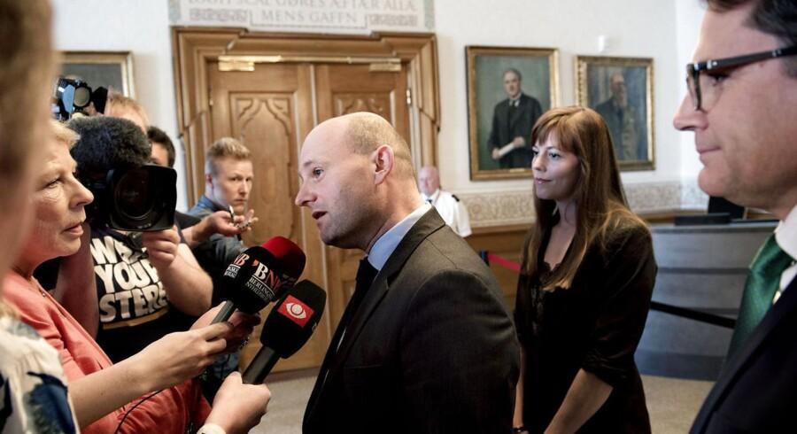 Søren Pape, Brian Mikkelsen og Mai Mercado fra Det Konservative Folkeparti.