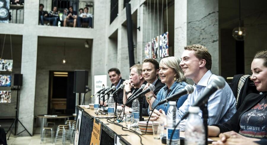 Arkivfoto. 15. maj var nogle af kandidaterne til europaparlamentsvalget samlet til debat på Øregård Gymnasium.