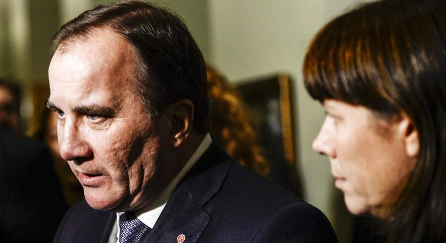 Den svenske statsminister Stefan Löfven og vicestatsminister Asa Romson.