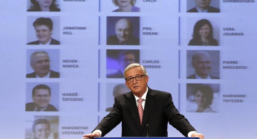 Jean-Claude Juncker under præsentationen af de nye EU-kommissærer.
