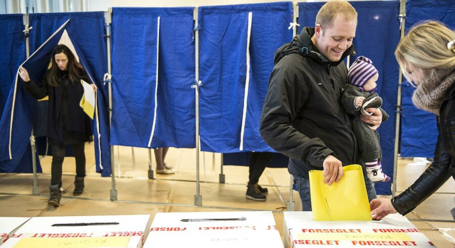 kommunalvalg 2013. Stemmer på Nyboder Skole