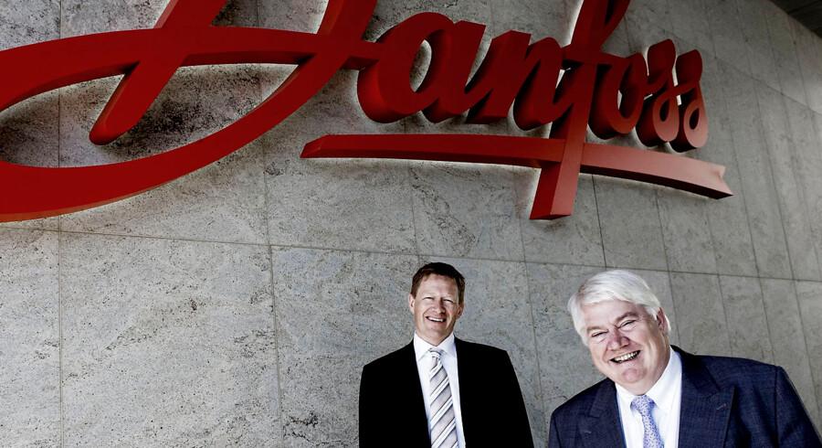 Danfoss, administrerende direktør Jørgen Mads Clausen (th) og Viceadministrerende direktør Niels B. Christiansen.