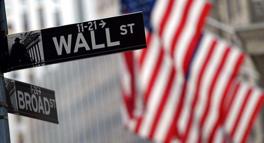 Der kan være udsigt til, at de toneangivende børser i USA er lyst op af håbets farve, når der ringes ind til tirsdagens aktiehandel på Wall Street. Arkivfoto.