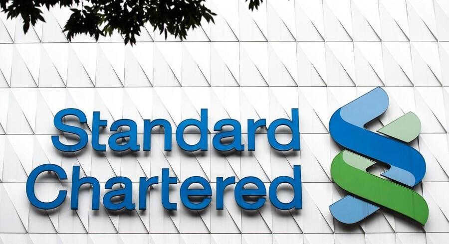 Et overraskende underskud for 2015 har tirsdag sendt den britiske storbank Standard Chartereds aktie ud i et brat fald på London-børsen. Arkivfoto.