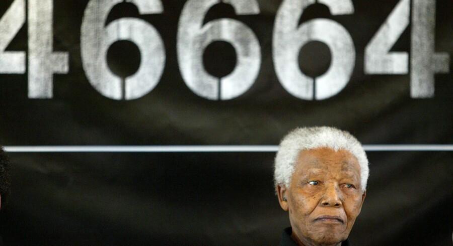 Tallet 46664 er en sammentrækning af Nelson Mandelas fangenummer og årstallet for hans fængsling. Det blev synonymt med hans kamp mod HIV og Aids. Foto: Kim Ludbrook.