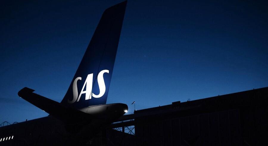 Et SAS-fly Airbus 340 til service fotograferet i Københavns Lufthavn. Luftfartsselskabet er i denne sommer blevet ramt af blandt andet mandskabsmangel og har derfor været nødsaget til at aflyse mange flyafgange.
