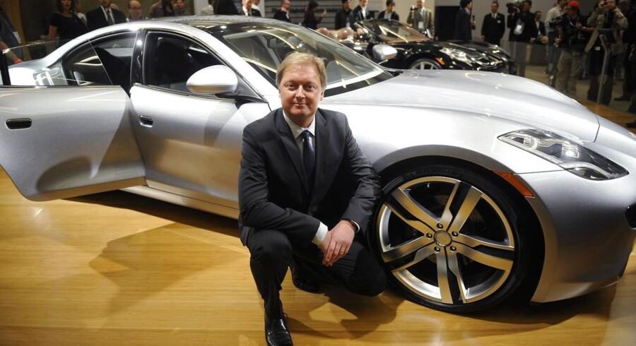 Henrik Fisker præsenterede stolt luksus-hybridbilen Karma for et par år siden - nu skal samtlige biler på værksted på grund af brandfare.