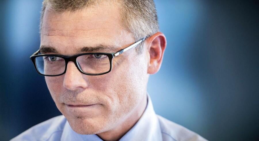 Direktør Jesper Rønnow Simonsen gennemgår den aktuelle status for SKAT på et pressemøde i SKAT