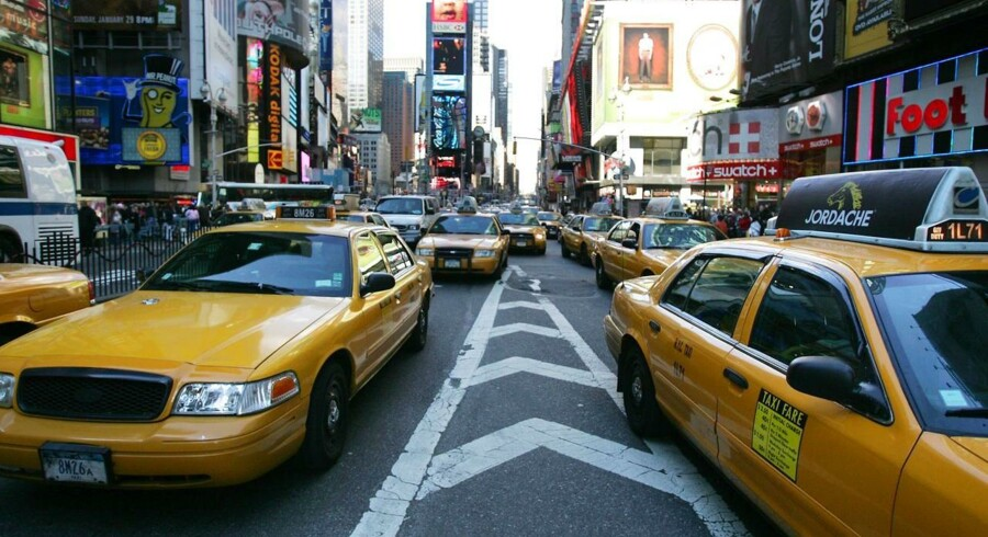Taxier ved Times Square i New York