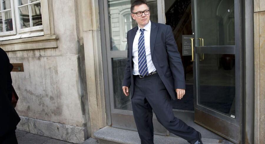 ARKIVFOTO: Lasse Lindblad, tidligere bestyrelsesmedlem i Capinordic Bank, forlader Østre Landsret mandag d. 1 juni 2015.