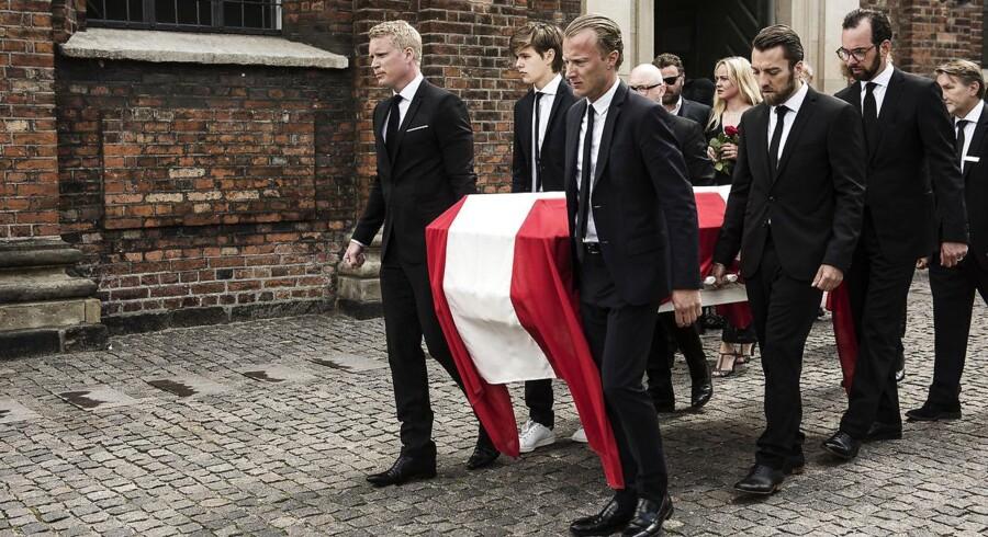 Mads Holger blev bisat fra Garnisonskirken i København tirsdag den 12. juli 2016.