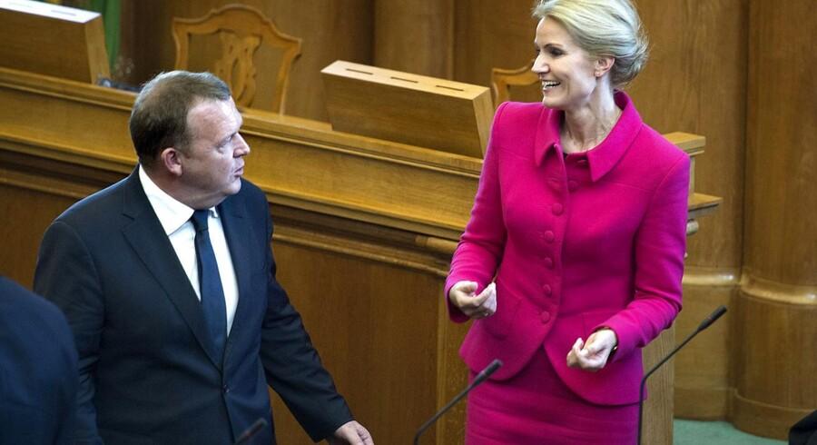 Helle Thorning og Lars Løkke