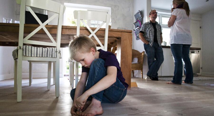 Jonas Mortensen fik konstateret ADHD som fire-årig. Nu fylder han snart syv og er på en skrap diæt, der holder sygdommen nede. Men hans forældre vil også forsøge med medicin. Foto: Nikolai Linares