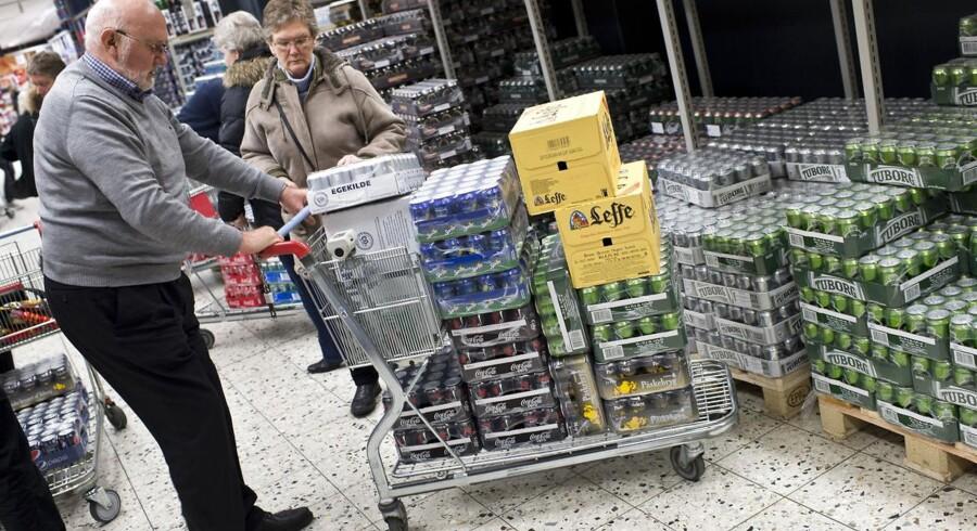 Grænsebutikkerne får konkurrence fra internettet, hvor Netpris fra Tyskland har åbnet for salg af dagligvarer til danskerne