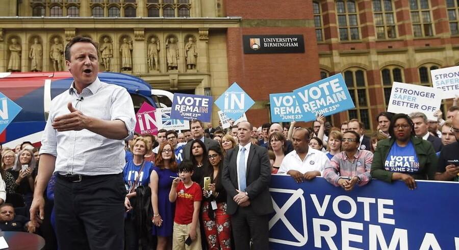 De britiske bookmakere ser kun en lille sandsynlighed for, at et flertal af de britiske vælgere vil stemme Storbritannien ud af EU.
