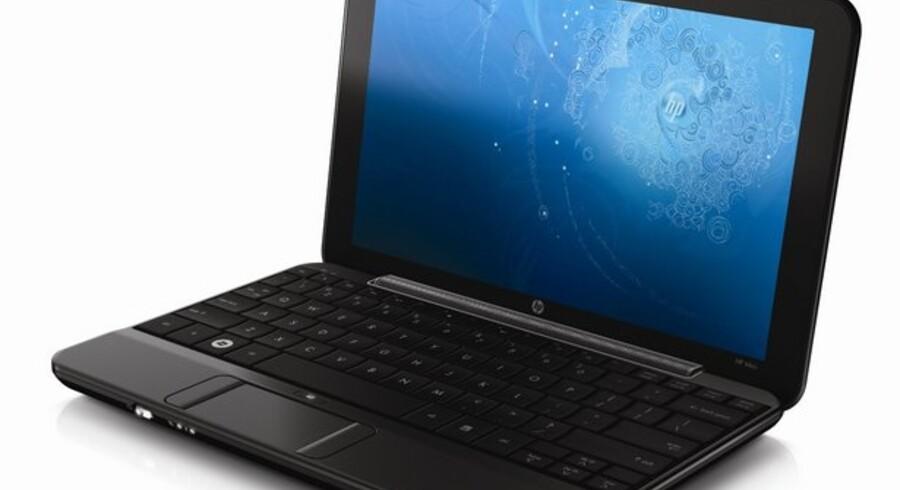 Sådan ser HPs nye våben i mini-PC-krigen ud. HP Mini 1000 kommer til april 2009 til Danmark. Foto: HP