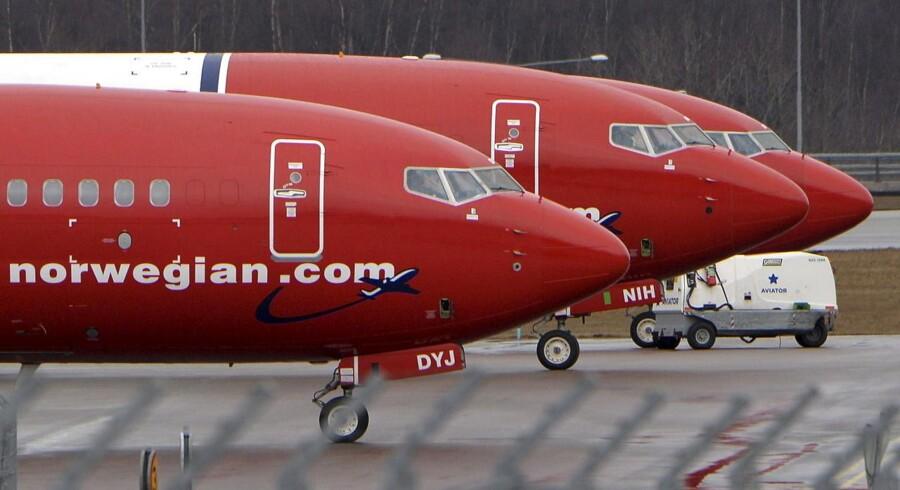 Lavprisflyselskabet Norwegian havde i november 1.952.083 passagerer.