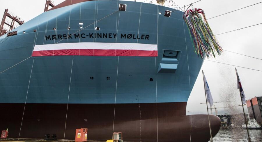 »Mærsk Mc-Kinney Møller« kommer til sejle med fuld last fra begyndelsen, oplyser Maersk Lines direktør Søren Skou.