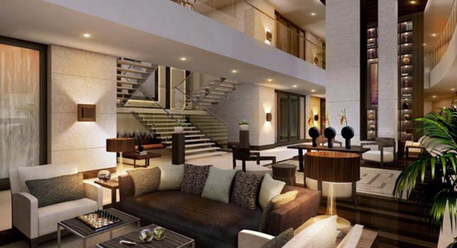 JW Marriott Marquis i Dubai består af to tvilling-tårne, der er 355 meter i højden, hvilket gør hotellet til verdens højeste.