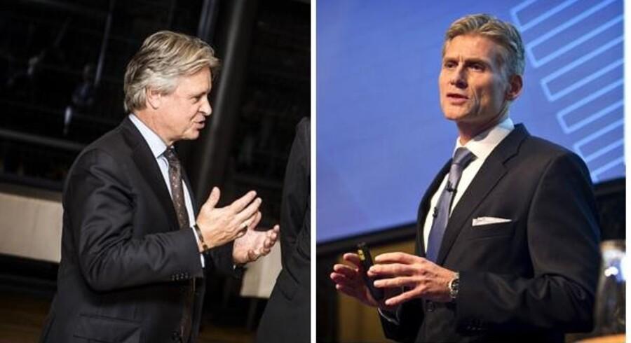 Adm. direktør og koncernchef hos Nordea, Casper von Koskull (t.v.) og adm. direktør hos Danske Bank, Thomas F. Borgen.
