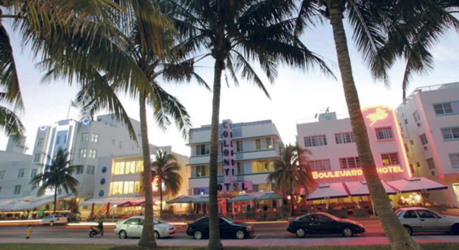 South Beach i Miami, Florida, er stedet, hvor de unge og smukke fester.