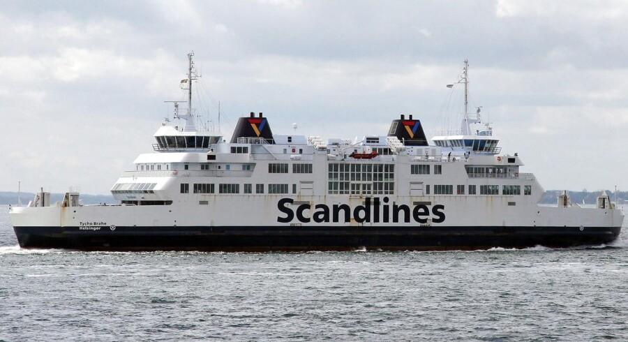 Scandlines færge 'Tycho Brahe' i Øresund mellem Helsingør og Helsingborg.