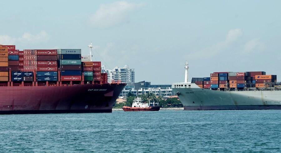 SCFI dækker over containerruter fra Shanghai til en stribe destinationer i verden.