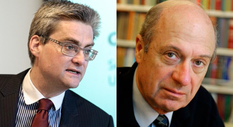 Udviklingsminister Søren Pind og professor Claus Haagen Jensen mødes torsdag i verbal infight på Deadline 22.30 på DR2.