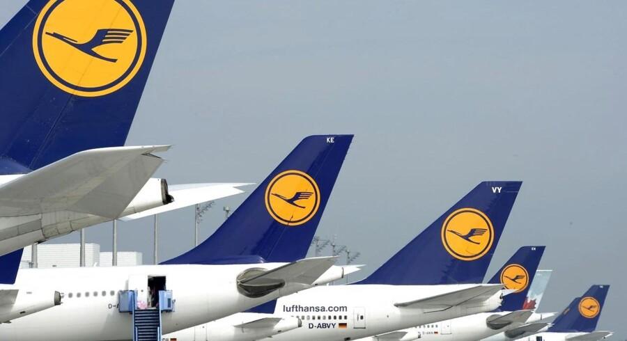 Piloterne nedlægger onsdag arbejdet på Lufthansas korte og mellemlange ruter.