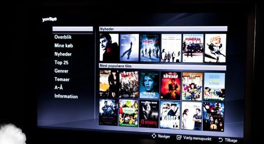Et smart-TV er et fladskærmsfjernsyn, som kan kobles på nettet, og hvorigennem man f.eks. kan leje film. Men hackerne kan også kikke indenfor... bogstaveligt. Arkivfoto: Jonas Vandall Ørtvig, Scanpix
