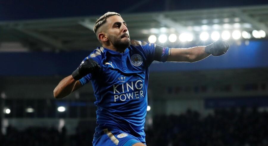Riyad Mahrez er kørt ud på et sidespor i Leicester. Reuters/David Klein