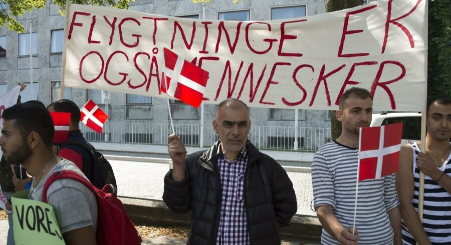 Demonstration på Rådhuspladsen i Aarhus mod regeringens lovforslag om en ny og lavere integrationsydelse