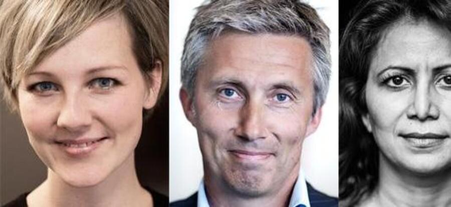 De Radikales Ida Auken, Venstres Morten Lykkegaard og SFs Özlem Cekic står alle i snævre dueller om en plads i Folketinget. Foto: Scanpix