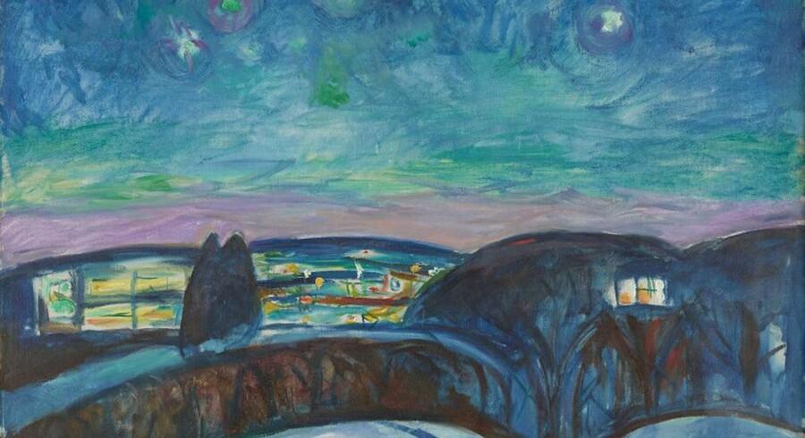 Gustav Munch: »Stjernenatt«, 1922–1924 (beskåret version).