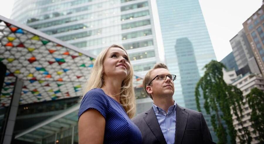 Parret Anders Peter og Anne Trads Juel Sauerberg står bag virksomheden Norbreeze, der har hjemsted i Singapore og skal stå for etableringen af Joe & the Juice i Asien. Foto: Norbreeze.