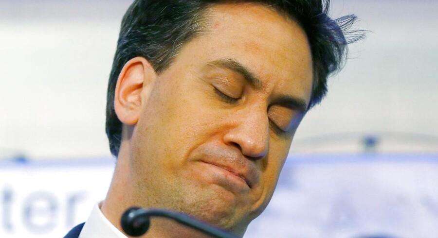 Den britiske oppositionsleder, Ed Miliband, var ikke tilfreds i nat.