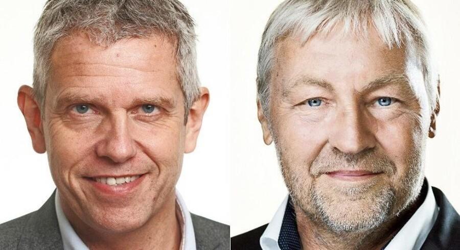 Fra venstre John Dyrby Paulsen (S) og Villum Christensen (LA). Foto: Steen Brogaard/Ft.dk & Slagelse.dk
