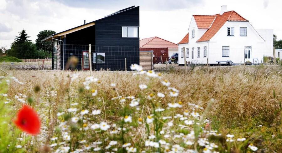 Nyt boligkvarter i Herfølge med 76 forskellige svanemærkede huse.