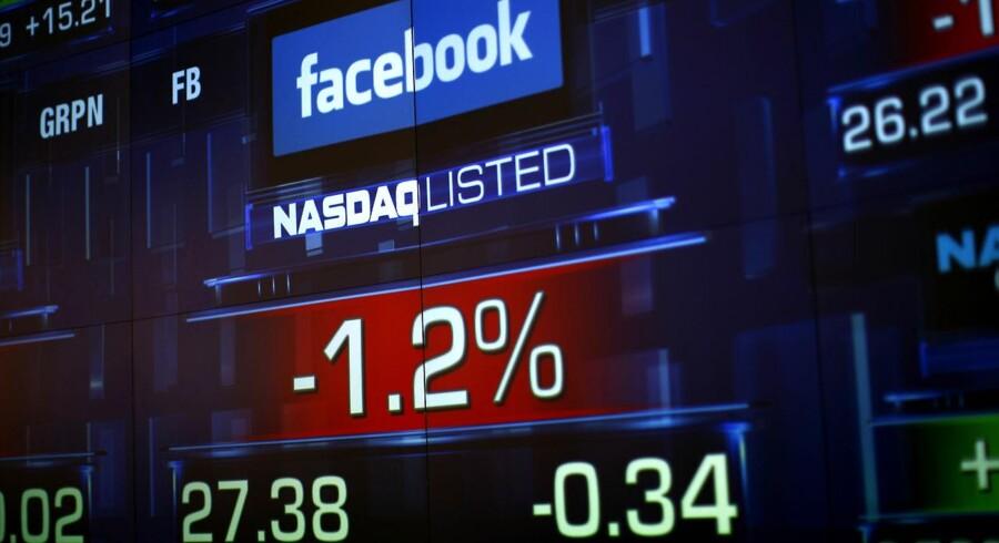 Børsnoteringen af Facebook på Nasdaq i New York gik ikke helt efter bogen.