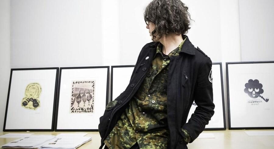 Den kontroversielle svenske kunstner Dan Park udstiller på Christiansborg. (Foto: Sophia Juliane Lydolph/Scanpix 2014)