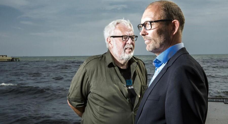 Den tidligere Vestas-formand Ejvind Sandal (tv.) sidder nu for bordenden i Nordic Solar Energy. Planen er, at solenergiselskabet skal børsnoteres inden for tre til fire år i England. Selskabet blev stiftet i 2010 af Nikolaj Hoff (th.).